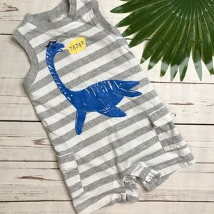 {Gymboree} sz 18 mo Loch Ness monster romper